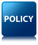 Policy blue square button Royalty Free Stock Photography