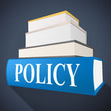 Policy Book Means Rule Conditions And Textbook Stock Photography