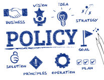 Policy concept. Policy. Chart with keywords and icons Stock Images