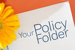 Policy Folder Royalty Free Stock Photography