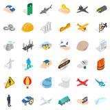 Policy icons set, isometric style. Policy icons set. Isometric style of 36 policy vector icons for web isolated on white background Stock Photos