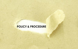 POLICY AND PROCEDURE Stock Image