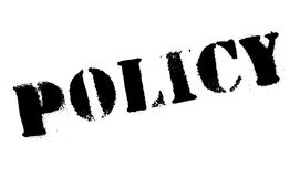 Policy rubber stamp Royalty Free Stock Images