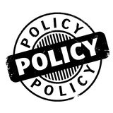 Policy rubber stamp Royalty Free Stock Image