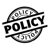 Policy rubber stamp Royalty Free Stock Photos