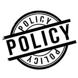 Policy stamp rubber grunge. Policy stamp. Grunge design with dust scratches. Effects can be easily removed for a clean, crisp look. Color is easily changed Stock Photo