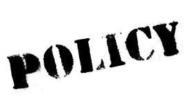 Policy stamp rubber grunge. Policy stamp. Grunge design with dust scratches. Effects can be easily removed for a clean, crisp look. Color is easily changed Royalty Free Stock Image