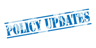Policy updates blue stamp Royalty Free Stock Images