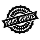 Policy Updates rubber stamp Stock Image