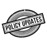 Policy Updates rubber stamp Royalty Free Stock Photography