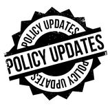 Policy Updates rubber stamp Royalty Free Stock Images