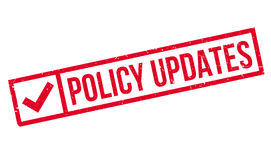 Policy Updates rubber stamp Royalty Free Stock Photos