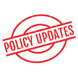 Policy Updates rubber stamp Royalty Free Stock Image