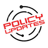 Policy Updates rubber stamp. Grunge design with dust scratches. Effects can be easily removed for a clean, crisp look. Color is easily changed Stock Photography