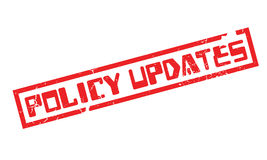 Policy Updates rubber stamp. Grunge design with dust scratches. Effects can be easily removed for a clean, crisp look. Color is easily changed Stock Images