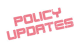 Policy Updates rubber stamp. Grunge design with dust scratches. Effects can be easily removed for a clean, crisp look. Color is easily changed Royalty Free Stock Images