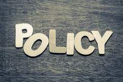 Policy Stock Image