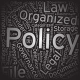 Policy ,Word cloud art background Royalty Free Stock Image