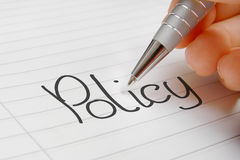 Policy word concept Royalty Free Stock Images