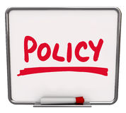 Policy Word Notice Board Follow Procedure Compliance Royalty Free Stock Image