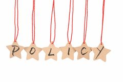 Policy word Stock Photography