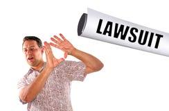 Policzkujący z sprawą sądową Obrazy Stock