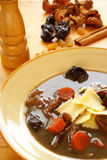 Polieren Sie Ente-Blut-Suppe (schwarze Suppe -   Stockfoto