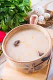 Polieren Sie Ostern-Suppe mit Ei Stockbilder