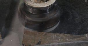 Poliermaschine Polnischer Marmorsteingranit stock video