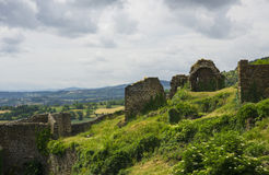 Polignac fortress ruins. View from the fortress walls Stock Photography