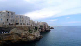 Polignano,普利亚,意大利 免版税库存照片