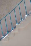 Polignano,蓝色楼梯,普利亚,意大利 免版税库存照片