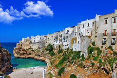 Polignano al mare , town on rock Royalty Free Stock Photography
