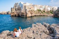 Polignano een merrie, Puglia, Itali? royalty-vrije stock afbeeldingen