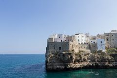 Polignano en stosikt, Apulia, Italien royaltyfri foto