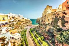 Polignano klacz, Apulia, Włochy Fotografia Royalty Free