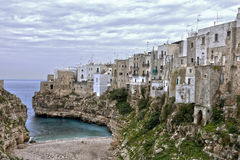 Polignano a mare cala porto view Stock Photo