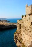Polignano a mare castle, Italy Stock Photo