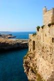 Polignano a mare castle, Italy stock photo