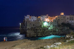 Polignano a Mare at the dusk Stock Photography