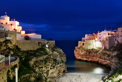 Polignano a mare evening view Stock Photo
