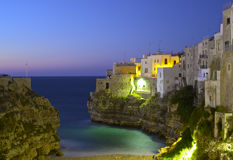 Polignano a Mare at night. Royalty Free Stock Images