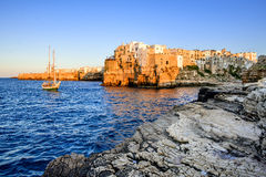 Polignano a Mare, Pulgia, Italy (HDR) royalty free stock images