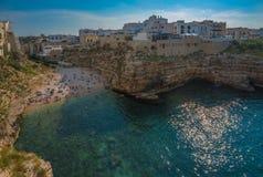 Polignano a Mare, scenic town in Puglia, Southern Italy Stock Photos