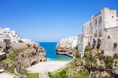 Polignano a mare, Southern Italy. Beautiful view of Polignano a mare, Southern Italy Stock Photo