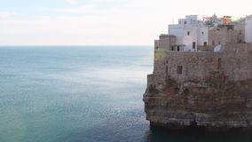 Polignano a mare A town overlooking the sea stock footage