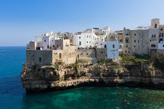 Polignano a mare view, Apulia, Italy Royalty Free Stock Photography