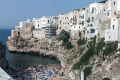 Polignano`s beach Stock Images