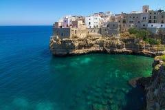 Polignano una giumenta (SEDERE, Italia): paradiso in terra Fotografie Stock