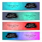 4 in 1 Poligon geometric Backgrounds for Banner. Backgrounds Royalty Free Stock Photos